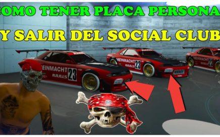 IFRUIT GTA 5 ONLINE COMO TENER PLACA PERSONALIZADA MUY FÁCIL Y COMO DESVINCULARSE DEL SOCIAL CLUB