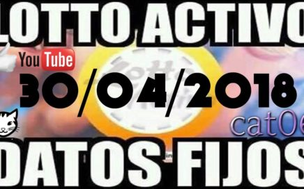 LOTTO ACTIVO DATOS FIJOS PARA GANAR  30/04/2018 cat06