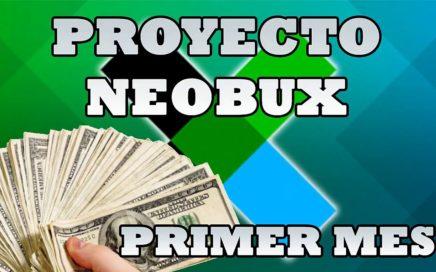 PROYECTO NEOBUX: COMO ME FUE EL PRIMER MES EN NEOBUX? | 2018