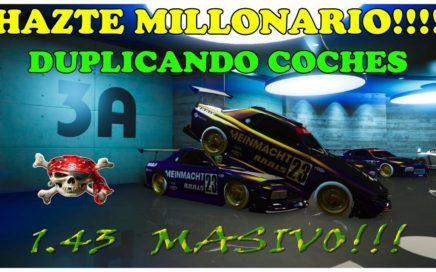 TRUCO GTA 5 ONLINE COMO SER MILLONARIO MUY FÁCIL *SOLO* DUPLICANDO COCHES MASIVAMENTE PS4-XBOX-PC
