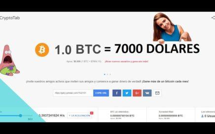 1 Bitcoin 7 mil dolares / consigue btc sin hacer nada / ganar dinero 2018