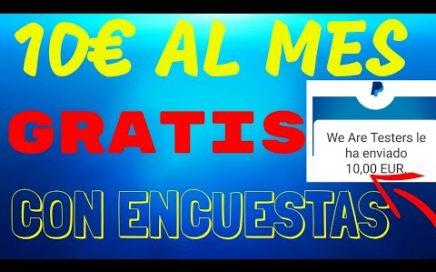 ¡10 EUROS AL MES GRATIS POR PAYPAL CON ENCUESTAS SOLO PARA ESPAÑA + (PRUEBA DE PAGO)!