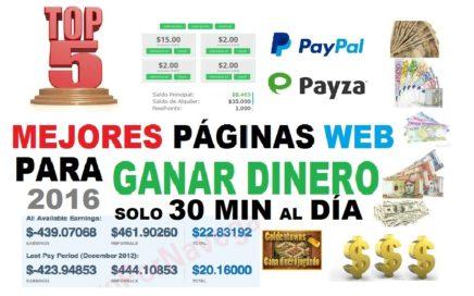 2016 (5 Mejores Páginas para ganar Dinero)solo 30min al día