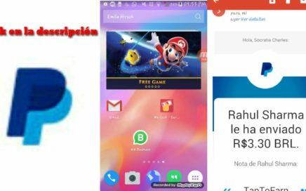 """Cómo cobrar en"""" tap to earn"""" nueva app para ganar dinero por Paypal echarle un vistazo 2018"""