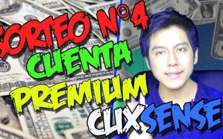 CUARTO EPICO SORTEO CUENTA CLIXSENSE PREMIUM GRATIS | Gana dinero por internet 2017