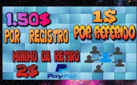 €1.50 GRATIS por Registro  Pago Mínimo €2.00 Por PayPal Como Ganar Dinero Con Encuestas