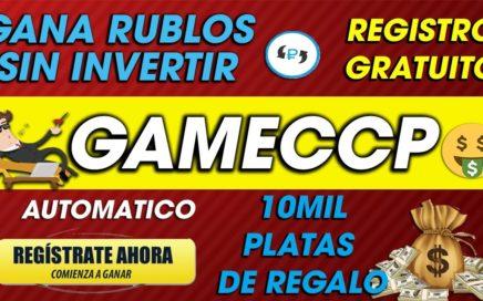 GameCCCP| Gana rublos GRATIS Sin invertir O invirtiendo| 2018 Dinero Facil TUTORIAL