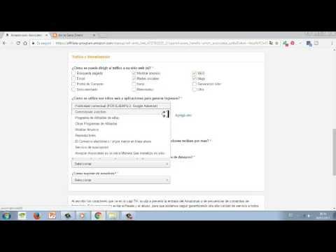 Gana dinero con amazon - Registro Sistema de afiliados