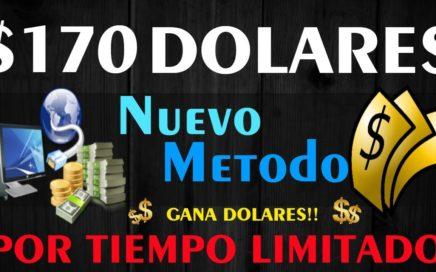 Gana Dolares Todos los dias - NUEVO METODO - $170.00 Dolares en 48 Horas!