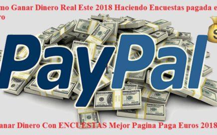 Ganar Dinero Con ENCUESTAS Mejor Pagina Paga Euros 2018