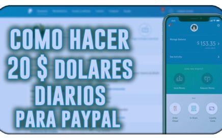 ¡INCREÍBLE! GANO 20$ DIARIOS | COMO GANAR DINERO PARA PAYPAL [JUNIO 2018 + COMPROBANTE DE PAGO]