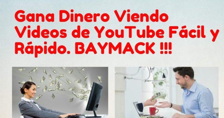 La Nueva App de Baymack Para Android| Gana Dinero Por Ver Vídeos de Youtube Fácil y RÁPIDO