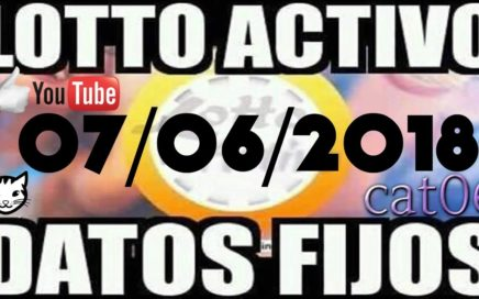 LOTTO ACTIVO DATOS FIJOS PARA GANAR  07/06/2018 cat06