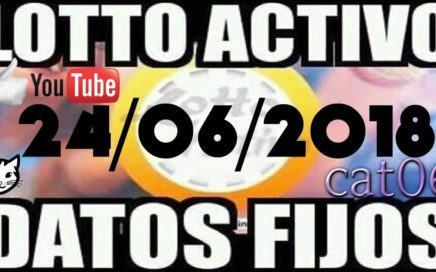 LOTTO ACTIVO DATOS FIJOS PARA GANAR  24/06/2018 cat06