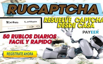 RuCaptcha| Ganar 50 Rublos Diarios resolviendo Captcha Facil y Rapido Desde Casa.| 2018 Pagando