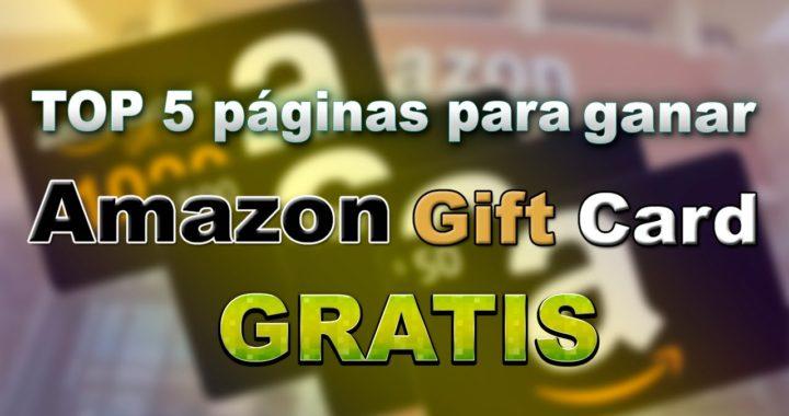 Top 5 páginas para ganar Amazon Gift Card Gratis