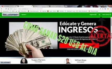 Workadi como ganar $20 DOLARES AL DÍA | DINERO POR INTERNET$