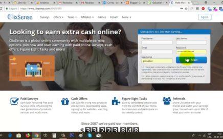 Clixsense Tutorial, Gana Dinero con Encuestas entre otras Tareas | Gokustian