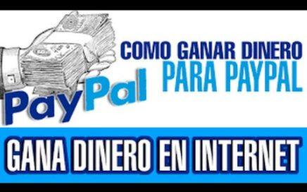 Como Ganar Dinero Para PayPal Gratis Sin Tener Tarjeta De Credito O Debito 2016