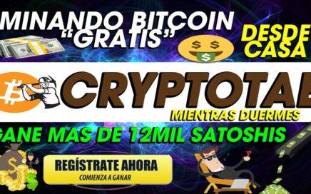 CryptoTAB| GANE 13Mil Satoshis Mineria Confiable GANA BITCOIN GRATIS DESDE CASA| PARA TODO EL MUNDO
