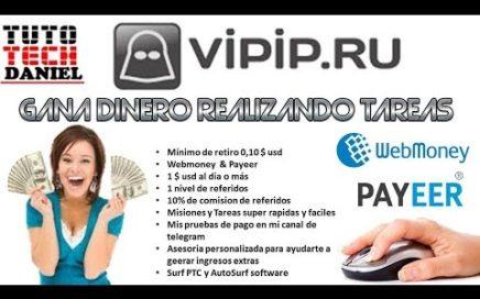 GANA 1 $ USD AL DIA CON VIPIP.RU - JULIO 2018 - PAYEER