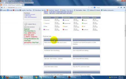 Ganar dinero rapido por internet PTC con Click2Cash facil 2013