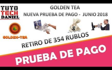 GOLDEN TEA - PRUEBA DE PAGO 354 RUBLOS - JUNIO 2018
