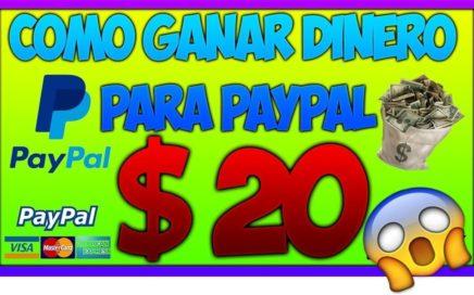 ¡IMPRESIONANTE! GANO 20$ DOLARES EN UN DIA - COMO GANAR DINERO PARA PAYPAL
