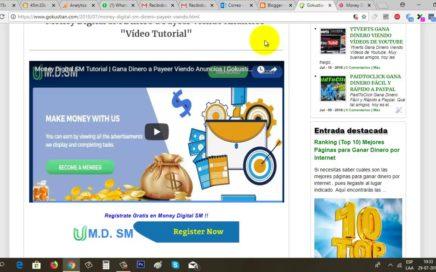 Money Digital SM Paga | Gana Dinero desde Casa Viendo Anuncios | Gokustian