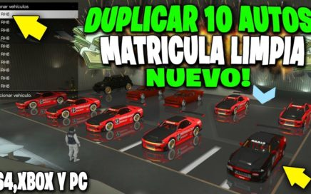 NUEVO! GTA 5 DINERO INFINITO DUPLICAR AUTOS MASIVO *MATRICULA LIMPIA* GTA V 1.44 BESTIAL!