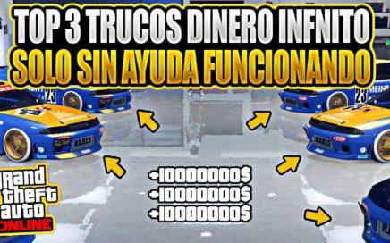 NUEVO! TOP 3 TRUCAZOS DE DINERO INFINITO PARA EL NUEVO DLC (PARA POBRES) GTA 5 ONLINE 1.43/1.44