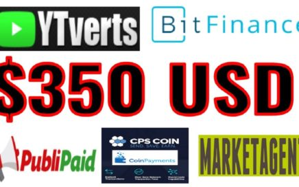 PAGOS 2 DE JULIO $350 USD - PUBLIPAID, MARKETAGENT, YTVERTS , BITFINANCE + CPS COIN COINPAYMENTS