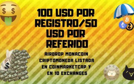 ( SCAM )100 USD AIRDROP MONACOIN OFICIAL LISTADA EN COINMARKETCAP
