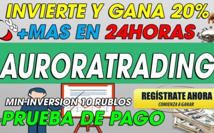 AuroraTrading| Nueva Pagina Para Ganar DInero|(SCAM NO PAGA NO INVERTIR)