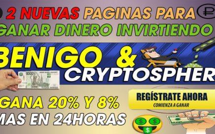 Benigo & Cryptosphere| Gana Dinero Desde casa Invirte y gana 20% Mas En  24h +[Prueba De pago]