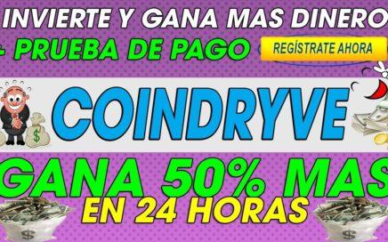 CoinDryve| Nueva pagina De Inversion | 50% Mas en 24 horas + Prueba de pago 2018