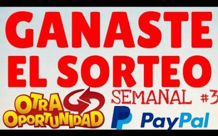 COMO CONSEGUIR DINERO GRATIS EN PAYPAL PARTICIPANDO EN MIS SORTEOS (GANADOR SORTEO SEMANAL3)