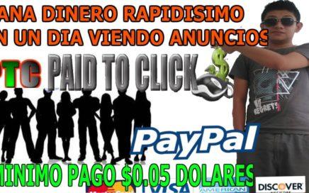 Cómo ganar dinero facil y rapido por internet para Paypal / Gana $0.05 dolares rapidos Gratis 2018