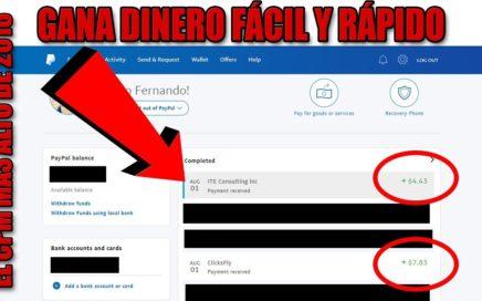 CÓMO GANAR DINERO ONLINE FÁCIL Y RÁPIDO CON ACORTADORES (AGOSTO 2018)