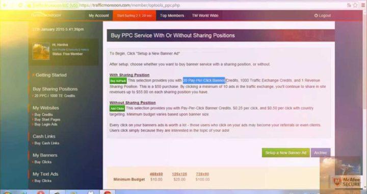 Cómo Ganar Dinero Online- Trafficmonsoon Paga!