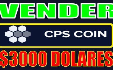 CPS COIN $3000,00 Dólares cambio a BITCOIN / Cómo vender, Actualizado 3 de Agosto 2018