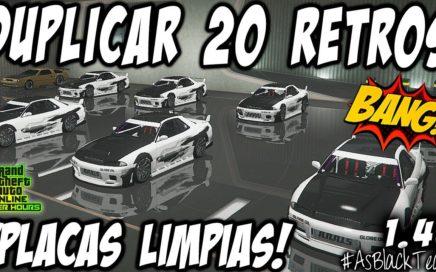 DUPLICAR 20 RETROS - !BRUTAL! - GTAV 1.45 - PLACAS LIMPIAS - DINERO FACIL - (PS4 - XBOX One - PC)