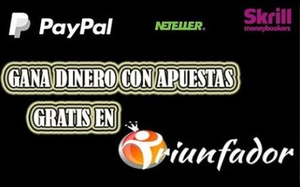 Gana dinero con Triunfador - Gana 25$ apostando sin invertir nada - DEY TUTORIALES VZLA