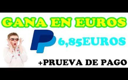 GANE 6,85 EUROS para paypal con tu REDES. 1 de AGOSTO 2018