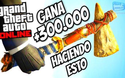 GTA 5 - GANA +$300.000 RÁPIDO HACIENDO ESTE TRUCO TIENES QUE HACERLO - Stone Hatchet NUEVA HACHA