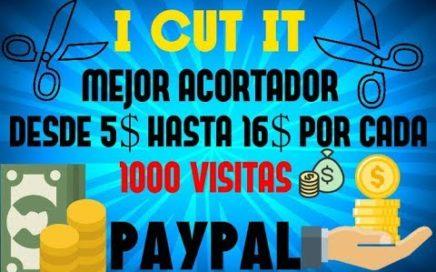 ICUTIT -  EL MEJOR ACORTADOR - PAGOS DESDE 5$ HASTA 16$ POR CADA 1000 VISITAS - PAYPAL