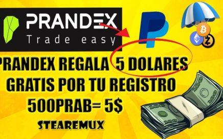 REGALAN 5 DOLARES POR TU REGISTRO EN PRANDEX | COMO TENER 5$ EN MENOS DE 10 MINUTOS PRANDEX