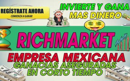 Richmarket| Empresa Legal Ganancias aseguradas| Invierte y Gana mas dinero [Recomendada]  2018