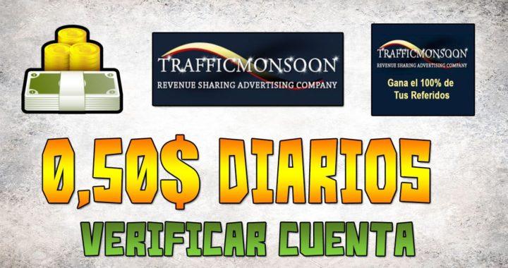 SCAM | Verificar Cuenta y ganar 1$ diario en Trafficmonsoon