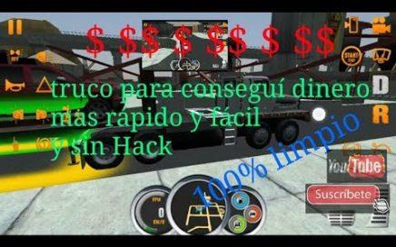 truco para conseguir dinero rápido y sin Hack aprovechen / truck simulator usa.